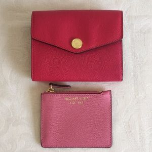 Michael Kors fold over Saffiano leather wallet